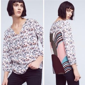 Anthropologie   One September Caia Floral Top Sz S